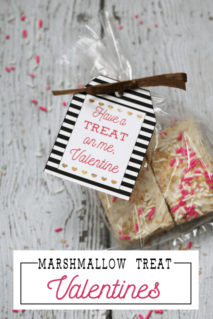 Marshmallow Treat Valentines | Classroom Valentines | Printable Valentine's Day Gift Tags