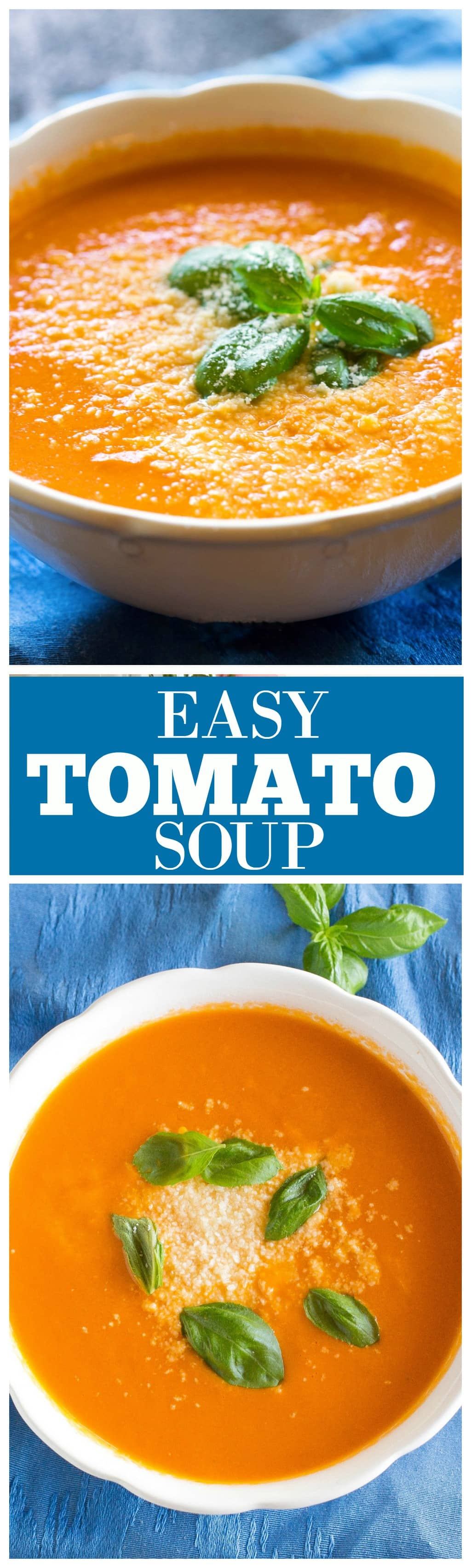 Easy Tomato Soup - only a couple of simple ingredients and tastes so comforting! the-girl-who-ate-everything.com