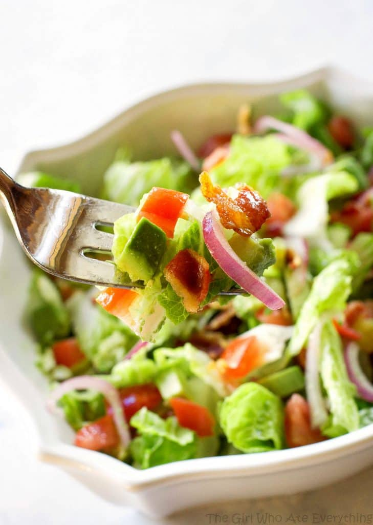 Guacamole Tossed Salad - I'm always looking for an easy salad to serve with my Mexican dishes and this is it! Honestly, you will lick the bowl. the-girl-who-ate-everything.com