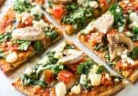 Spinach and Feta Pita Pizza