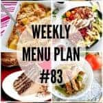 Weekly Menu Plan #83