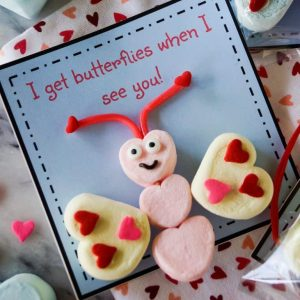 Marshmallow Butterfly Valentines