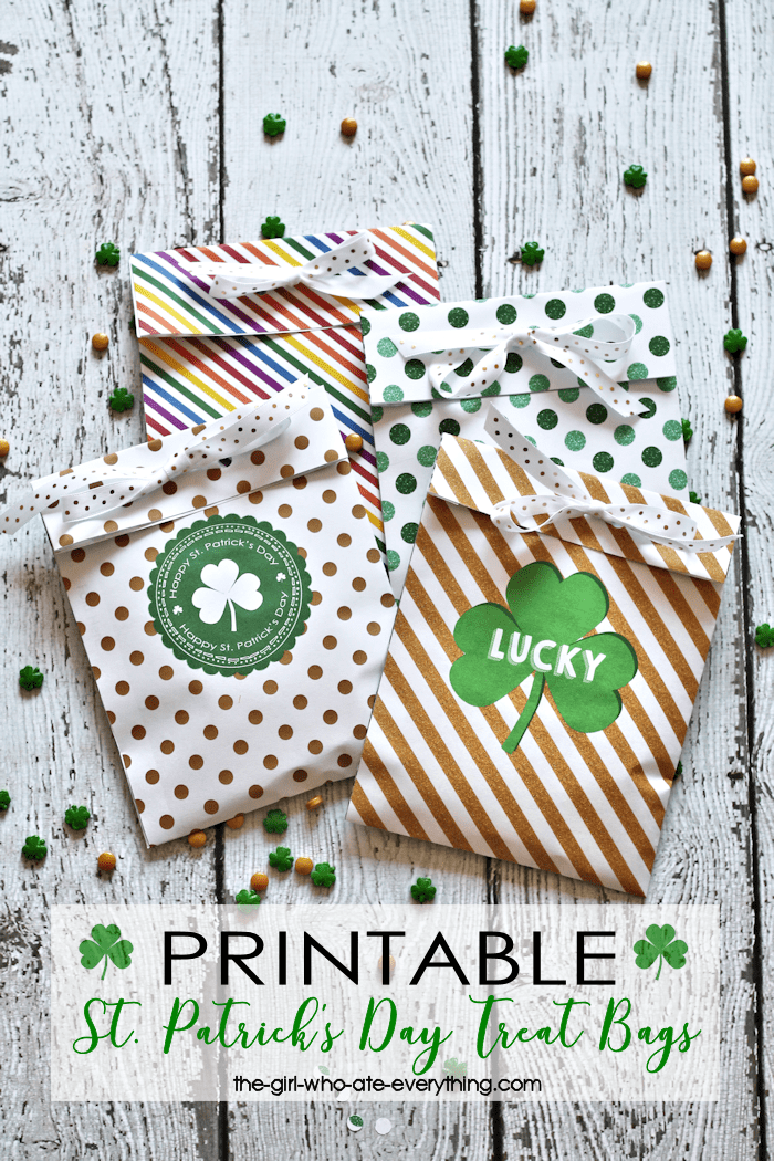Free Printable St. Patrick's Day Treat Bags