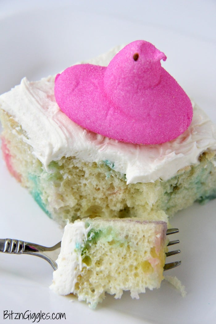 Peeps Cake with marshmallow Frosting