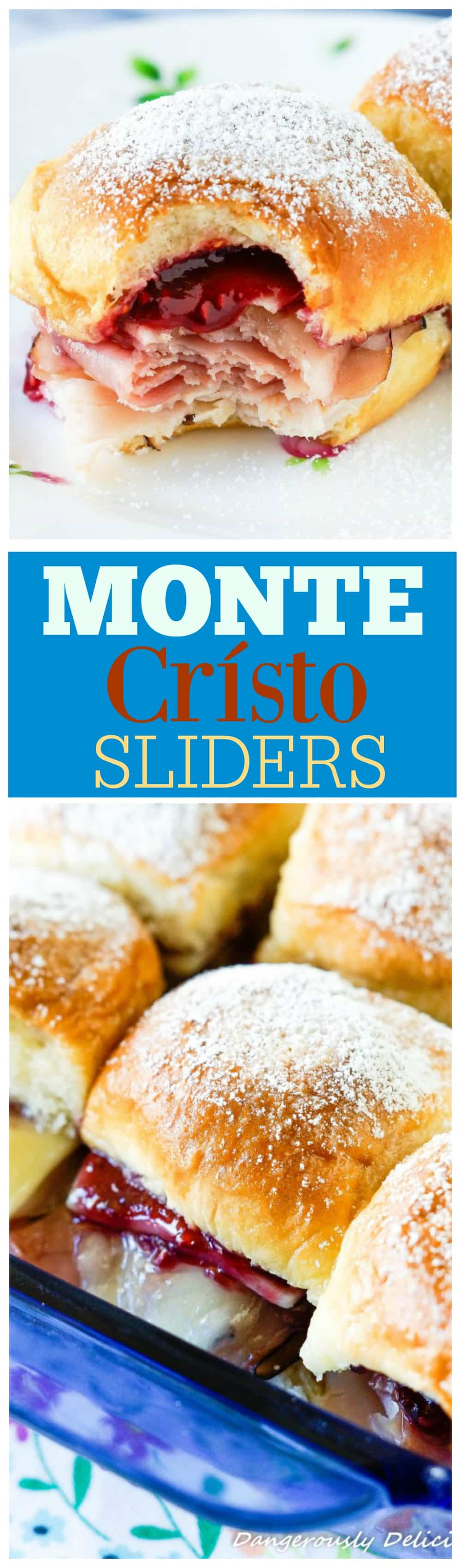 These Monte Crísto Sliders will take you back to that happy place or, if you've never tried one, create a new happy memory in your very own home. Perfect for Spring, serve these sliders for Easter brunch or as part of a Mother's Day Breakfast.