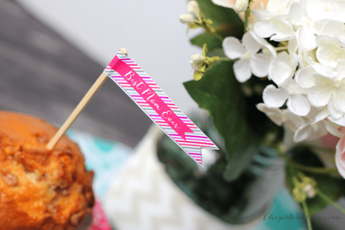 Printable Mother's Day Flags | Free Mother's Day Printables | Drink and Straw Flags