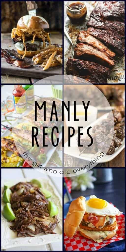 Manly Recipes for Father's Day