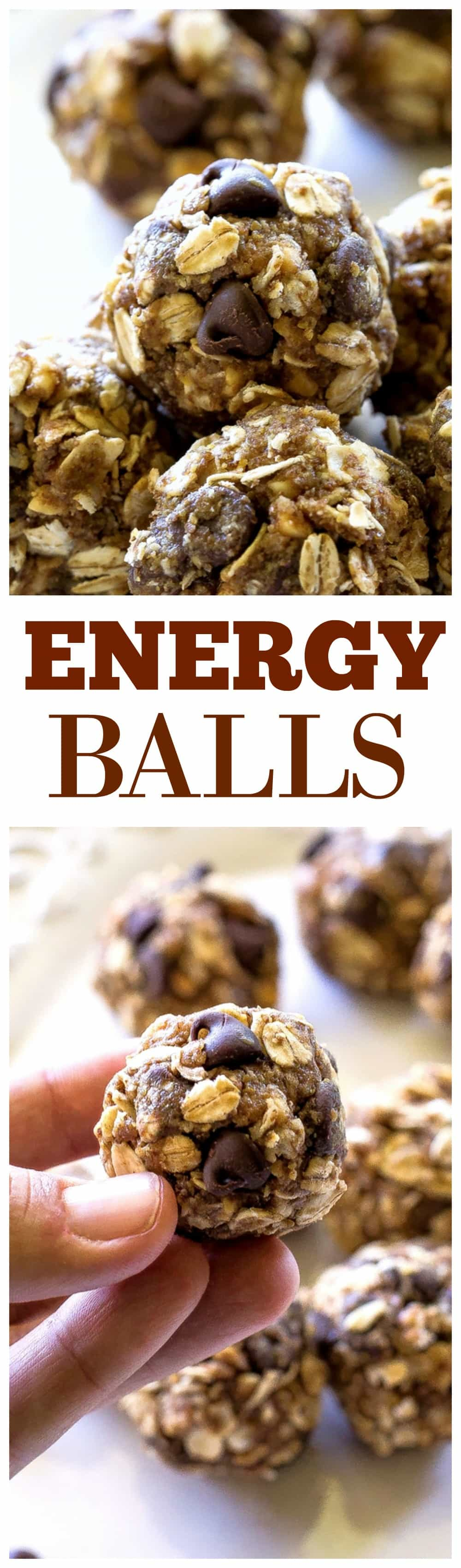 Easy Energy Balls - oats, honey, flaxseed, peanut butter, and a few chocolate chips. We make this easy snack once a week at least! #energy #balls #healthy #snack