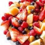 Poppy Seed Fruit Salad - sweet with a bright citrus flavor and a little bit of ginger. the-girl-who-ate-everything.com