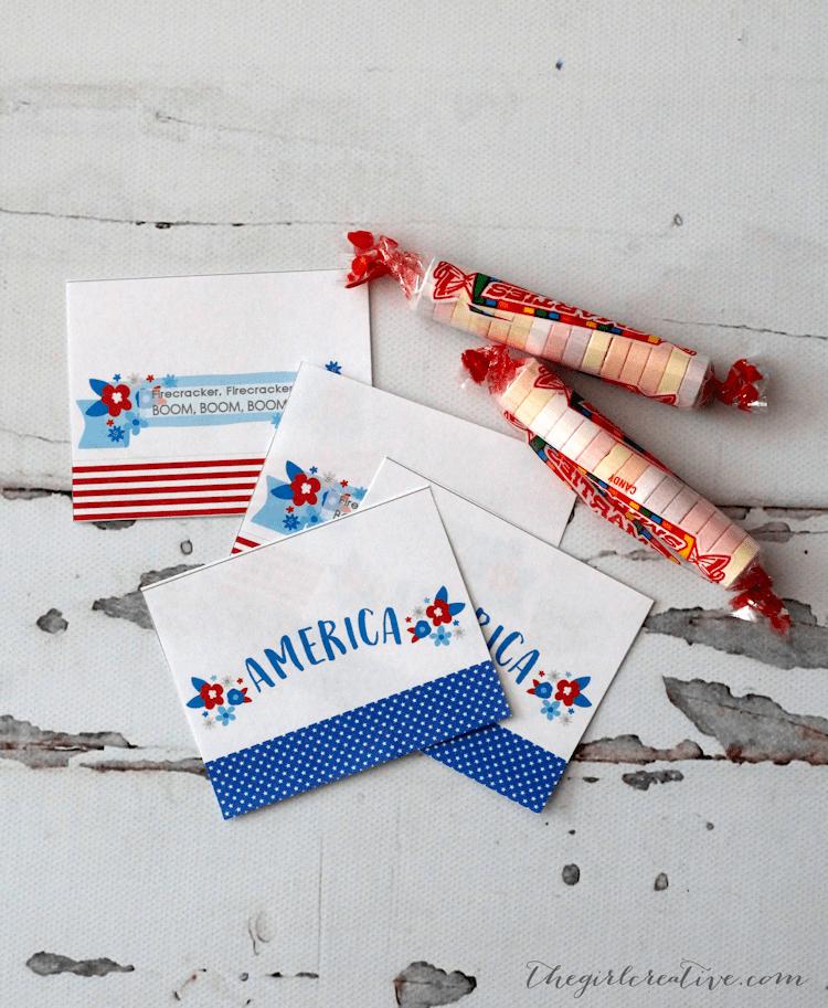 4th of July Firecrackers Favors