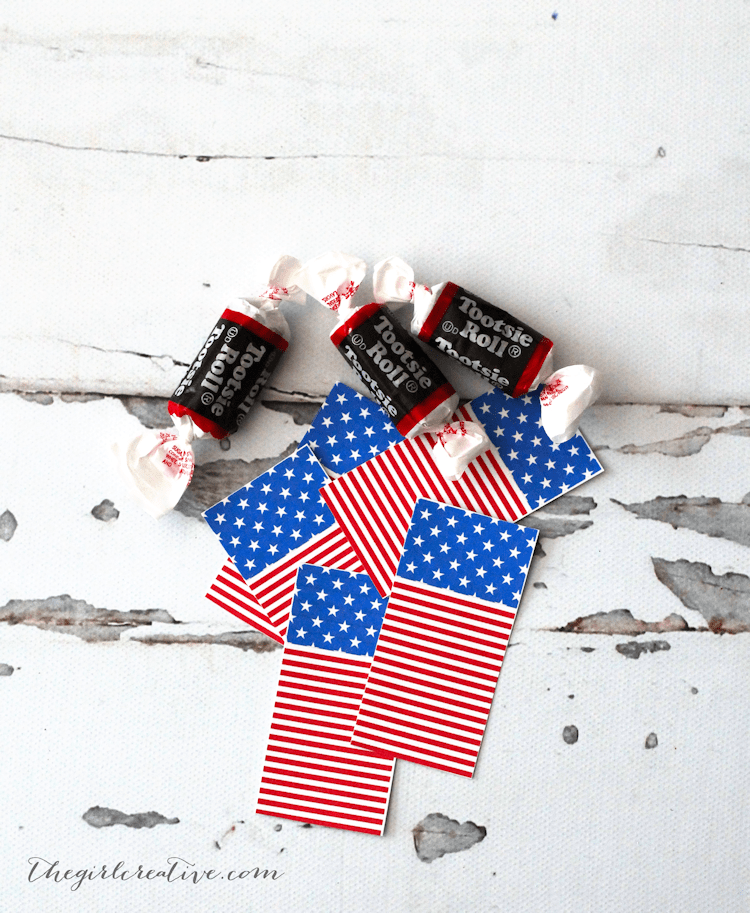 4th of July Firecrackers Favors - Free 4th of July Printables