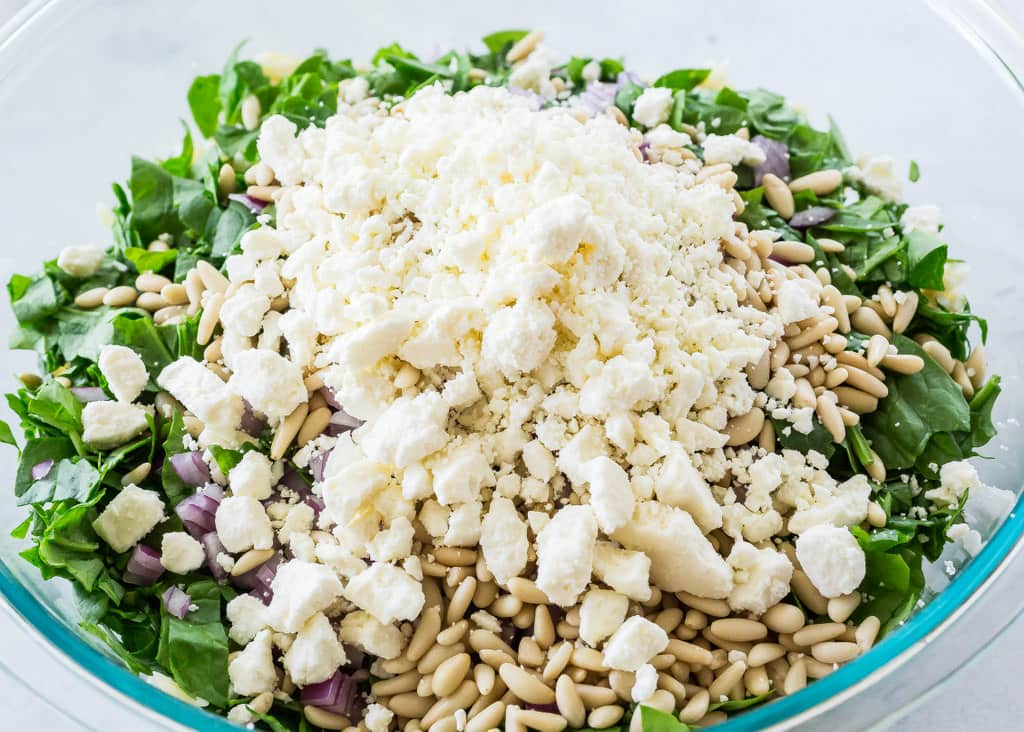 Spinach, Feta, and Orzo Salad - The Girl Who Ate Everything