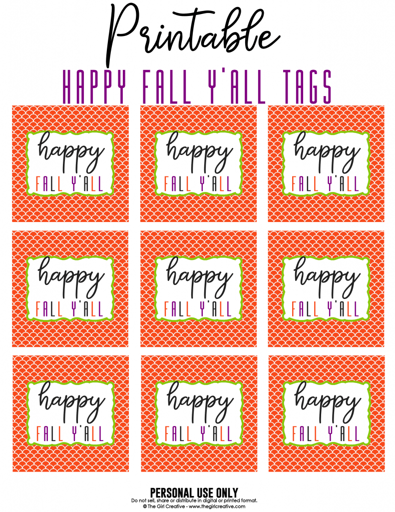 This is a photo of Bewitching Happy Fall Y'all Printable