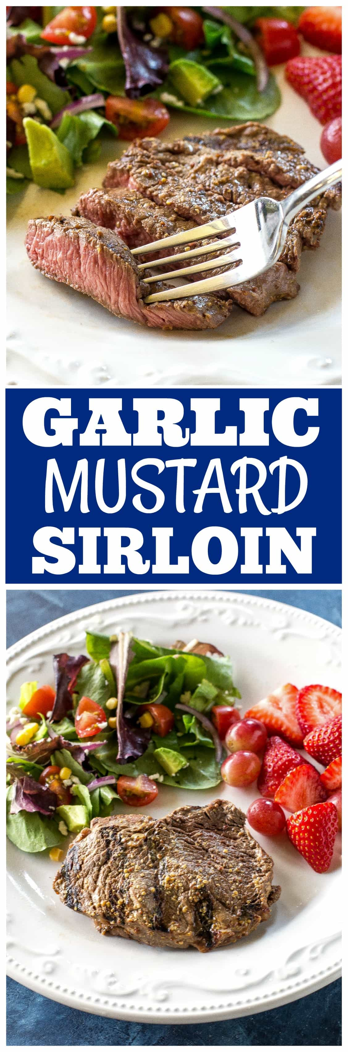 Get your grill on with this lean Garlic Mustard Sirloin. It's a easy dinner ready in under 30 minutes that is packed with flavor and protein. #KingoftheGrill #ad @beeffordinner