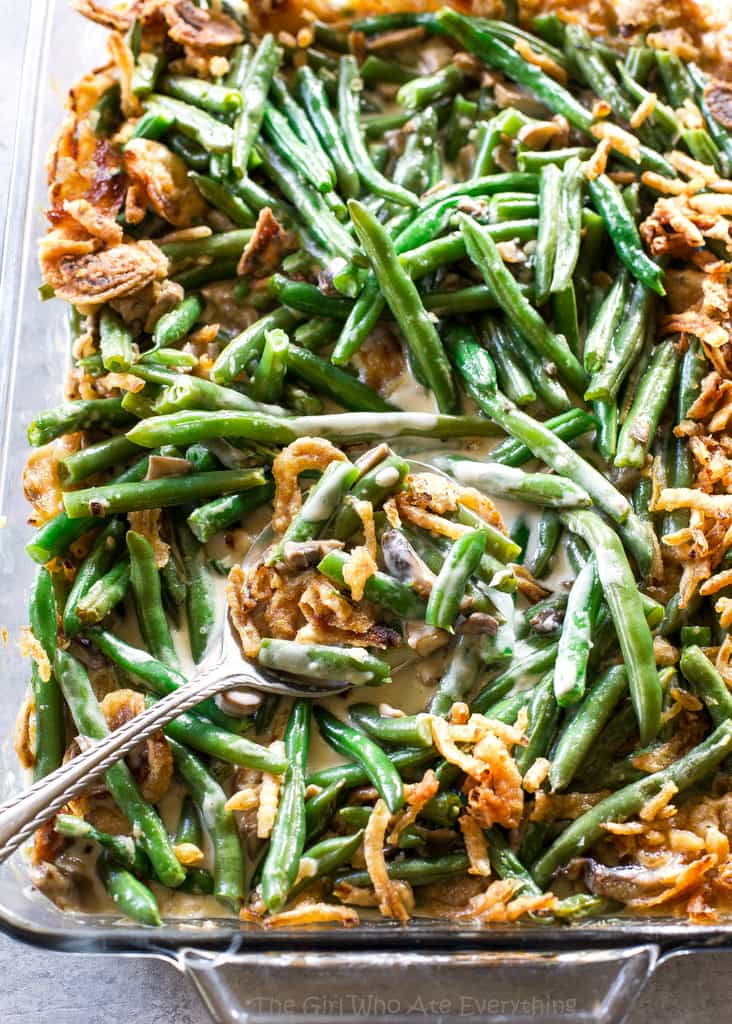 Green Bean Casserole Recipe in a dish