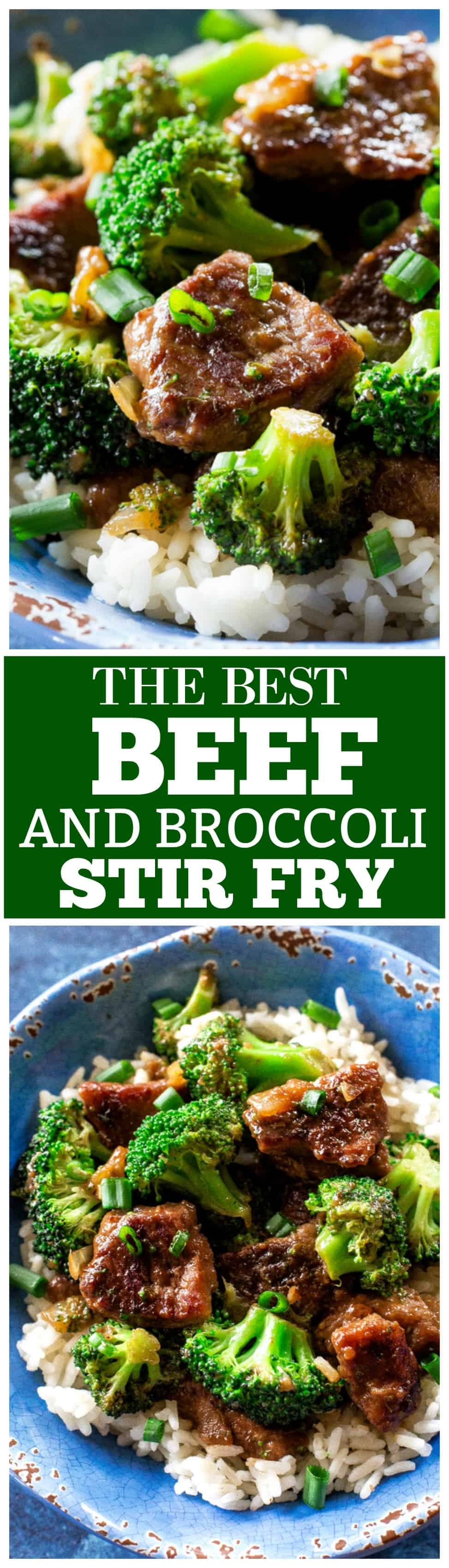 Beef and Broccoli Stir Fry - an easy dinner that tastes like take out! #beef #broccoli #stirfry #easy #dinner