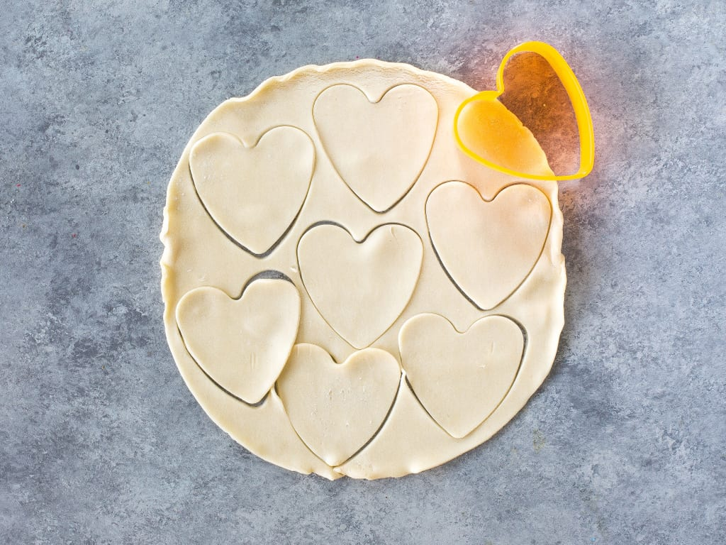 pie crust hearts