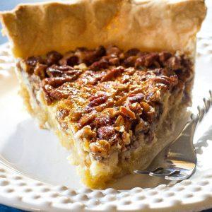 Pecan Cheesecake Pie slice