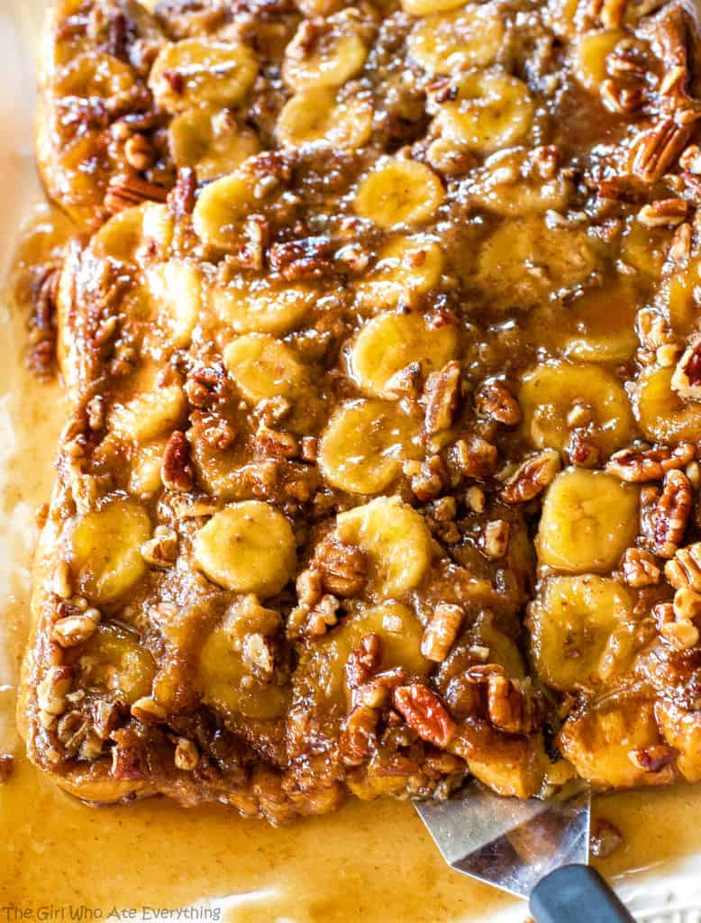 Baked Bananas Foster French Toast pan