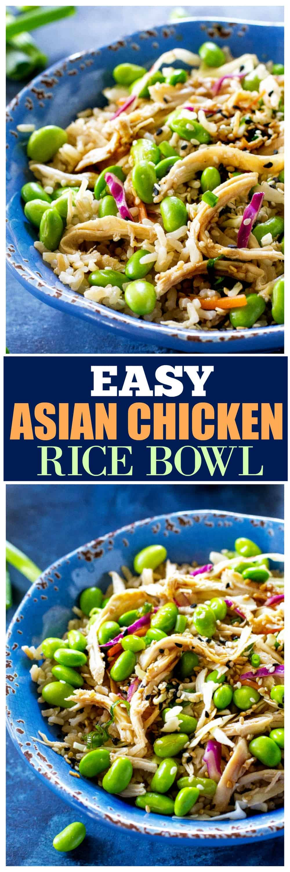 Easy Asian Chicken Rice Bowl