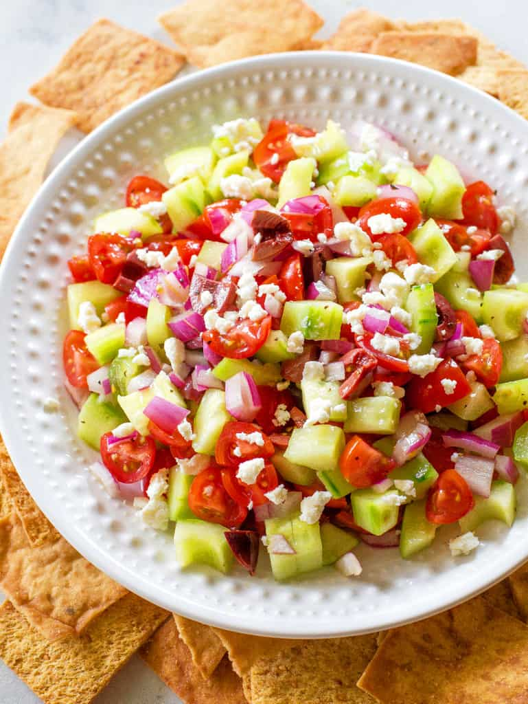 Greek Salsa on a plate
