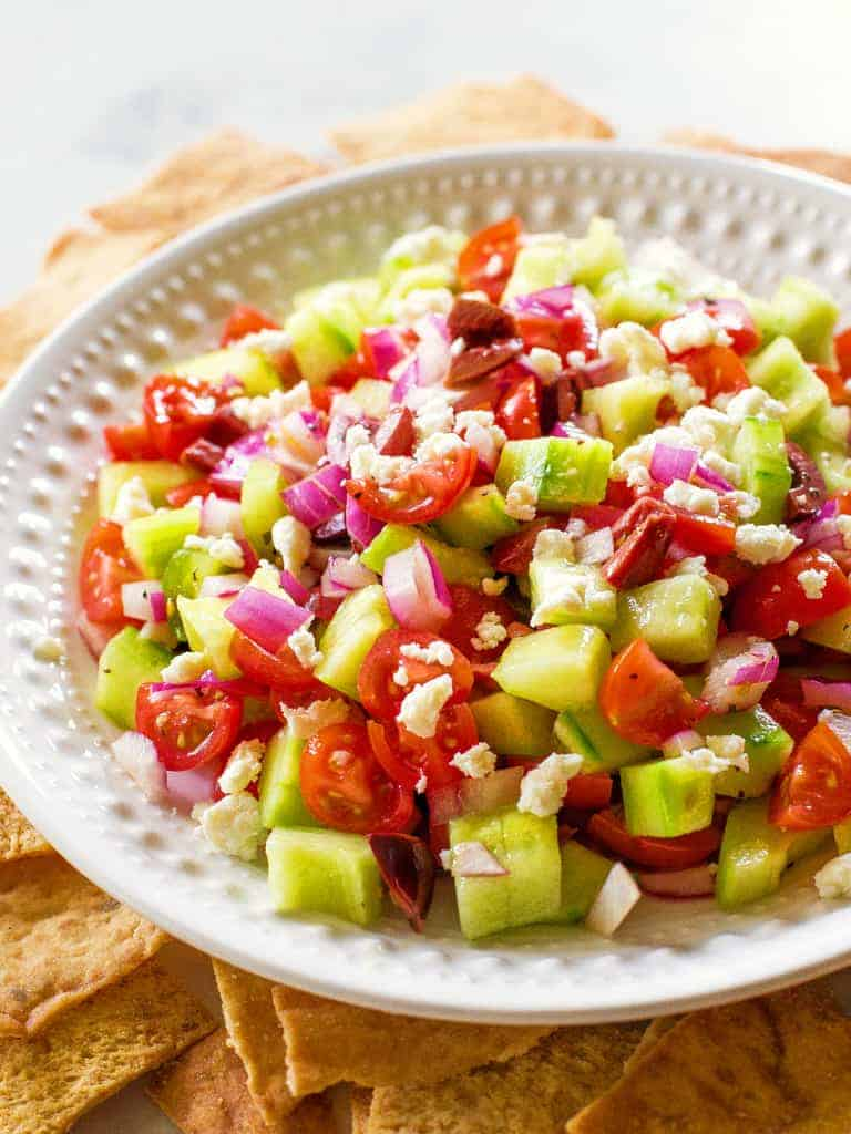 Greek Salsa on a plate