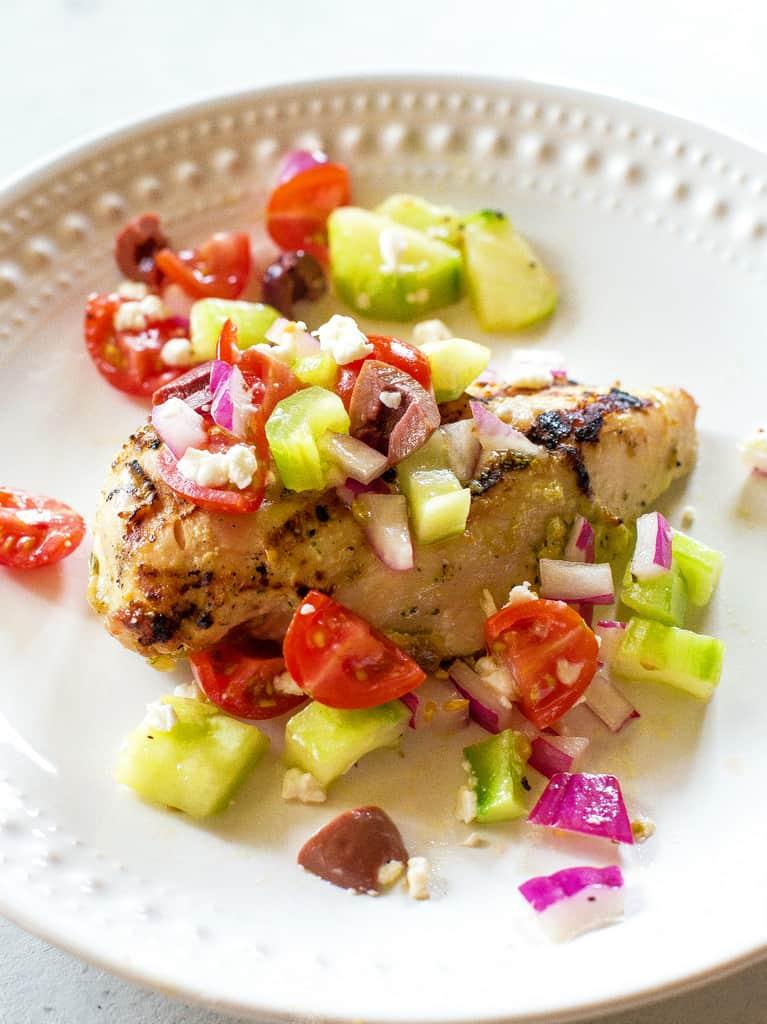 Greek Salsa on chicken