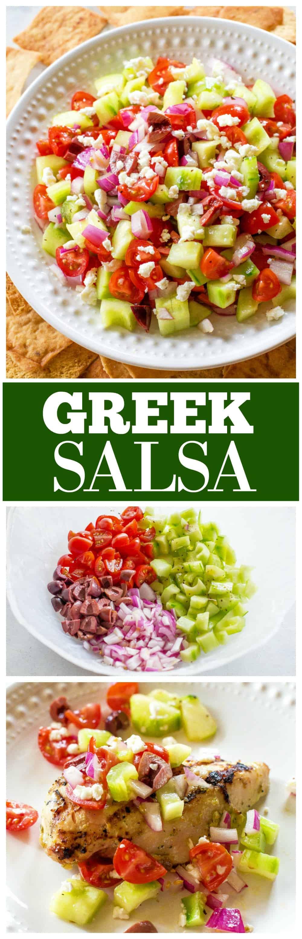 Greek Salsa with pita chips