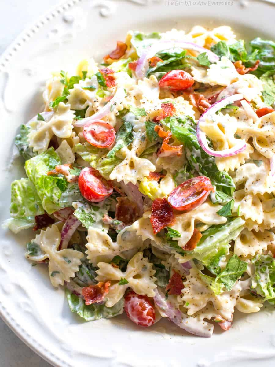 Blt Pasta Salad Recipe The Girl Who Ate Everything
