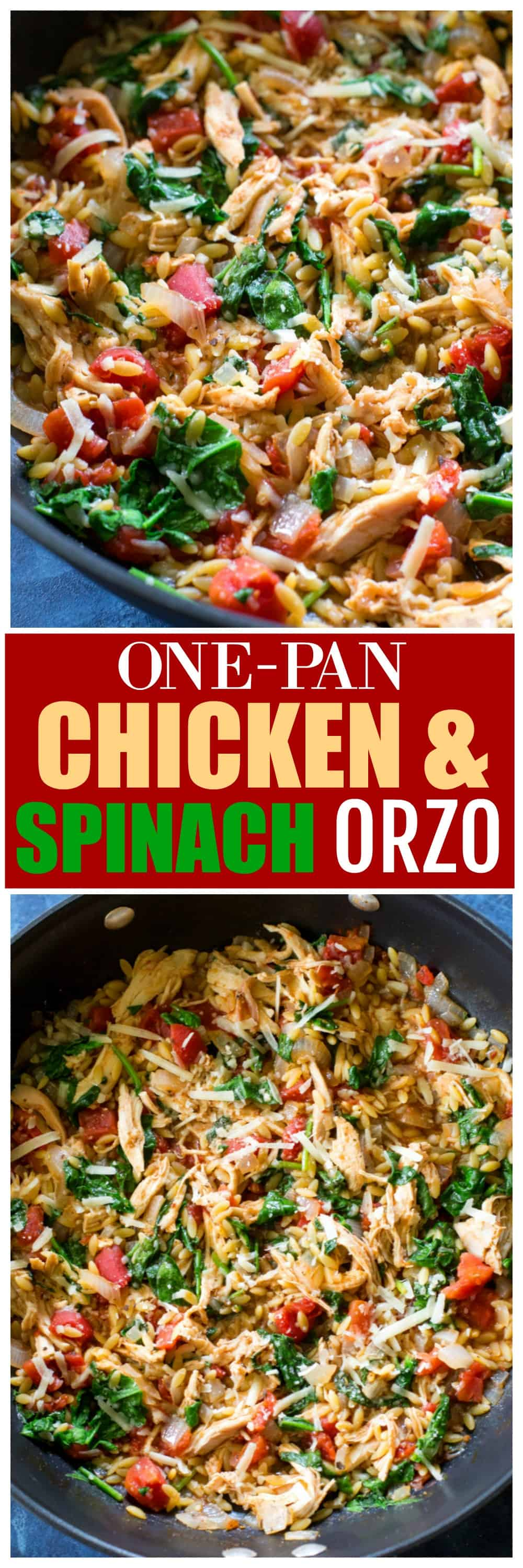 One-Pan Chicken Spinach Orzo