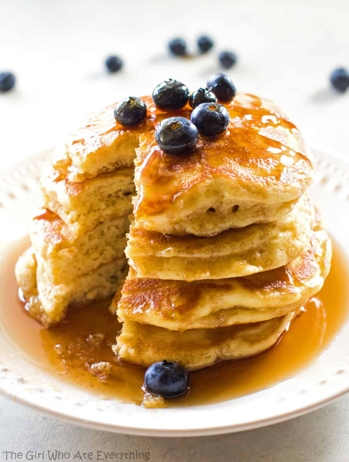 homemade fluffy pancakes breakfast recipe the girl who ate everything