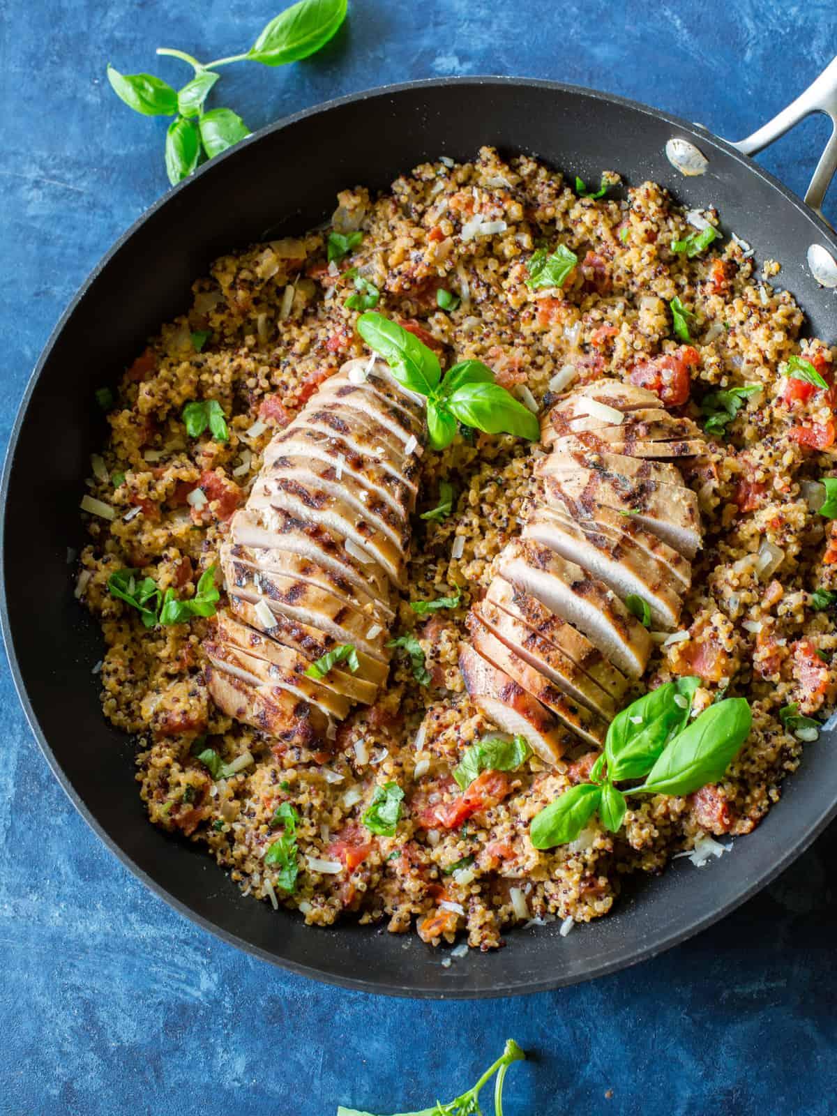 Tomato Basil Chicken Quinoa