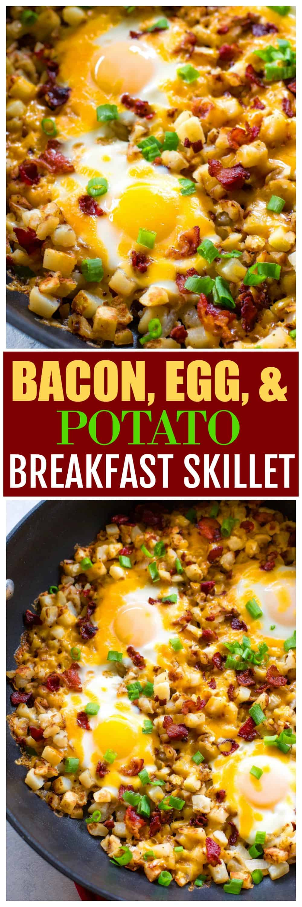 Bacon, Egg, and Potato Breakfast Skillet