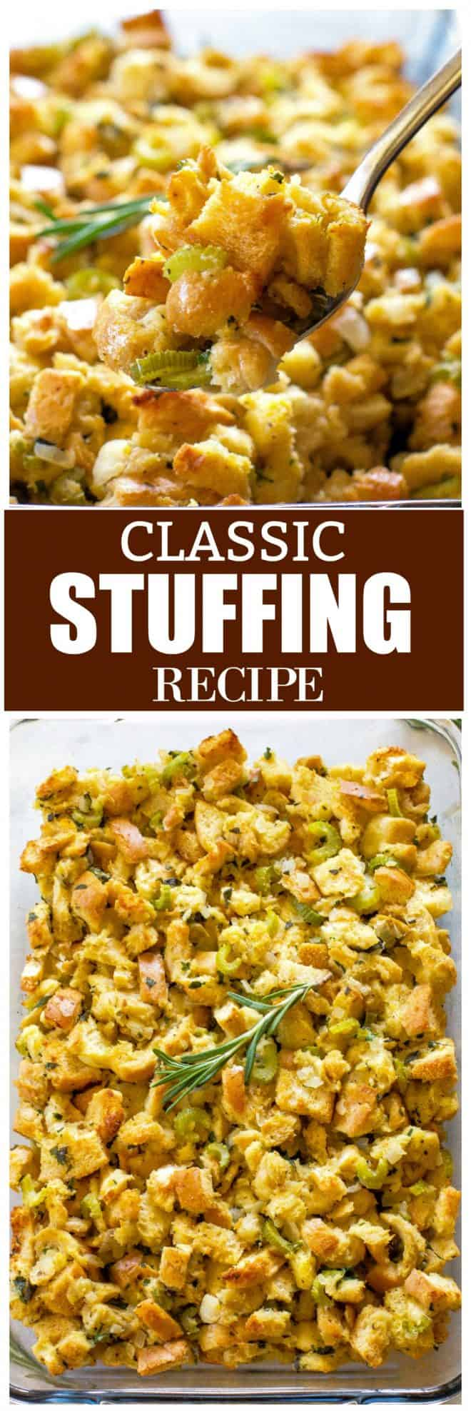 Thanksgiving Classic Stuffing Recipe