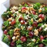 Grape and Feta Kale Salad