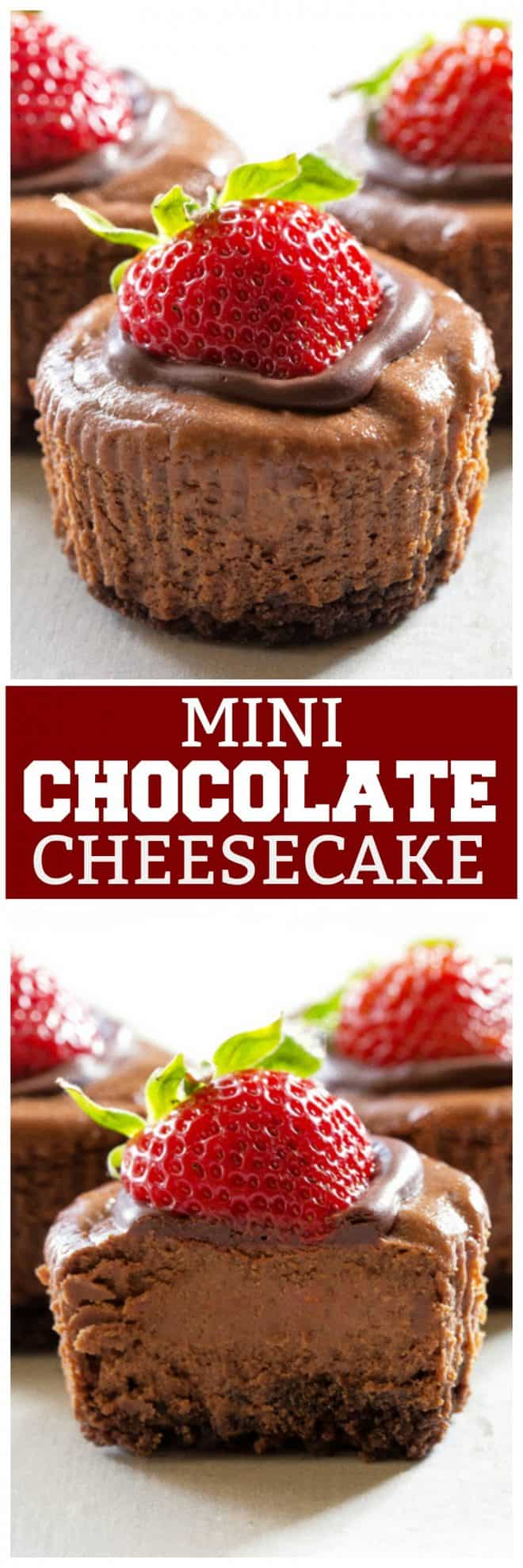 Mini Chocolate Cheesecakes