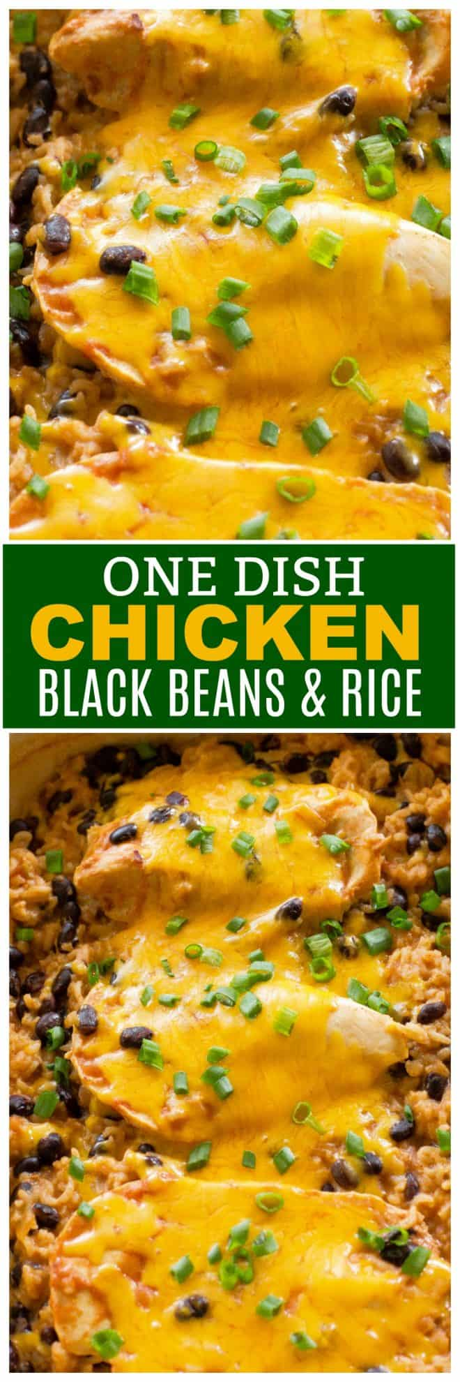 One Dish Chicken, Black Beans, and Rice
