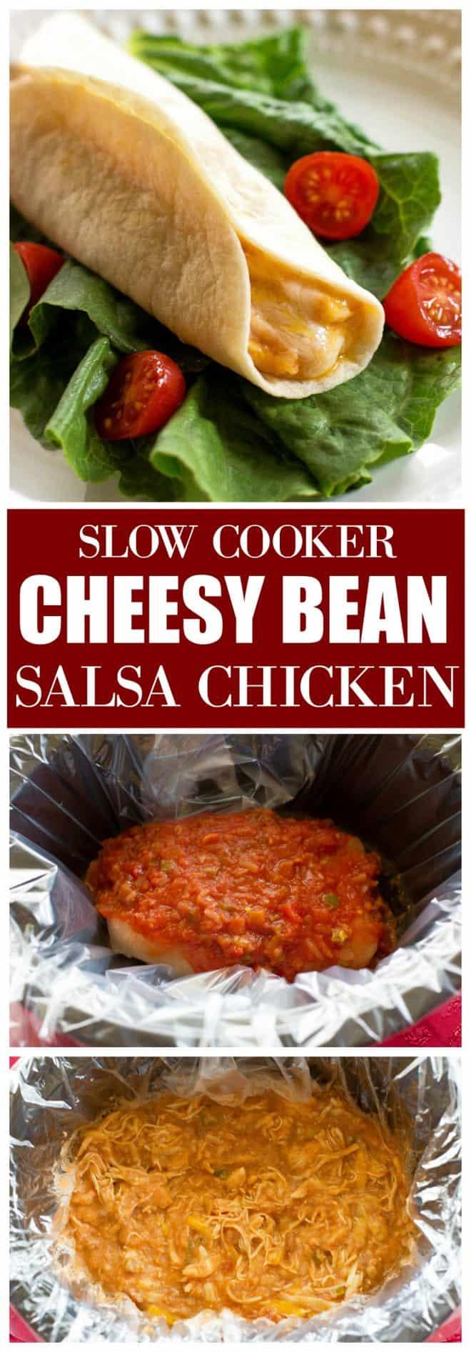Cheesy Bean Salsa Chicken