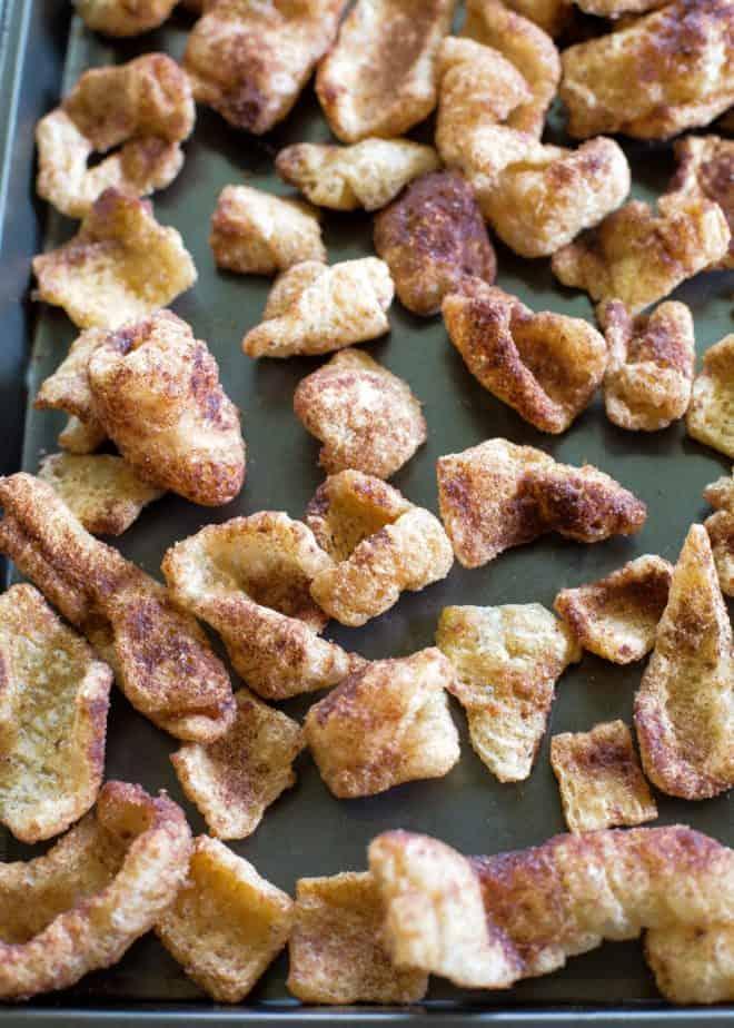 cinnamon keto pork rinds