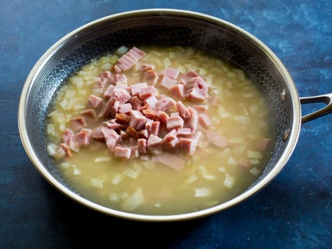ham and chicken broth