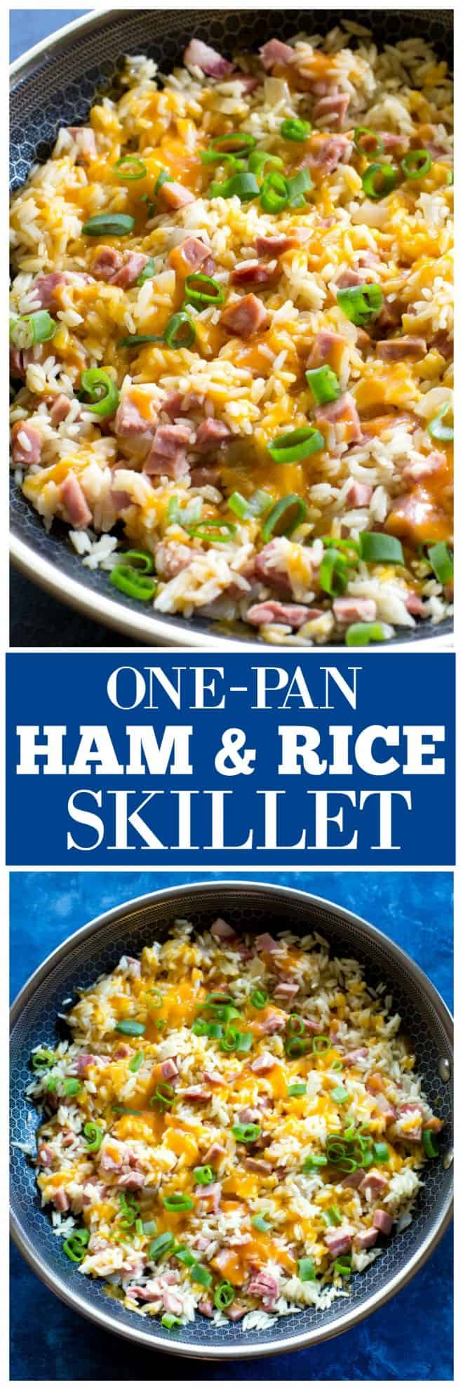 one-pan ham and rice skillet