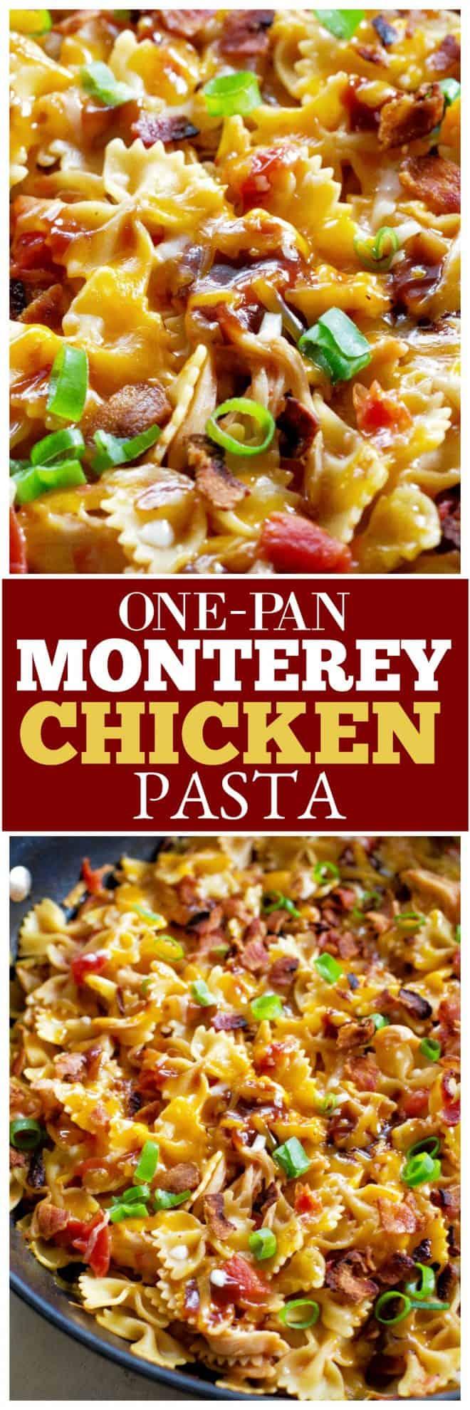 one-pan monterey chicken pasta
