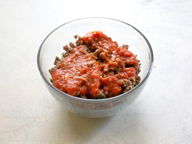 meat and marinara sauce