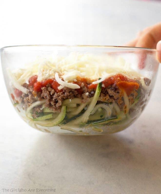 lasagna in a bowl
