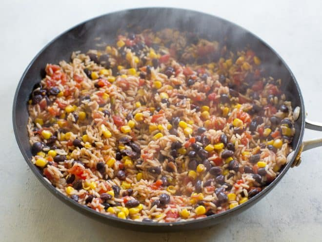 One-pan Spicy Mexican Rice Skillet