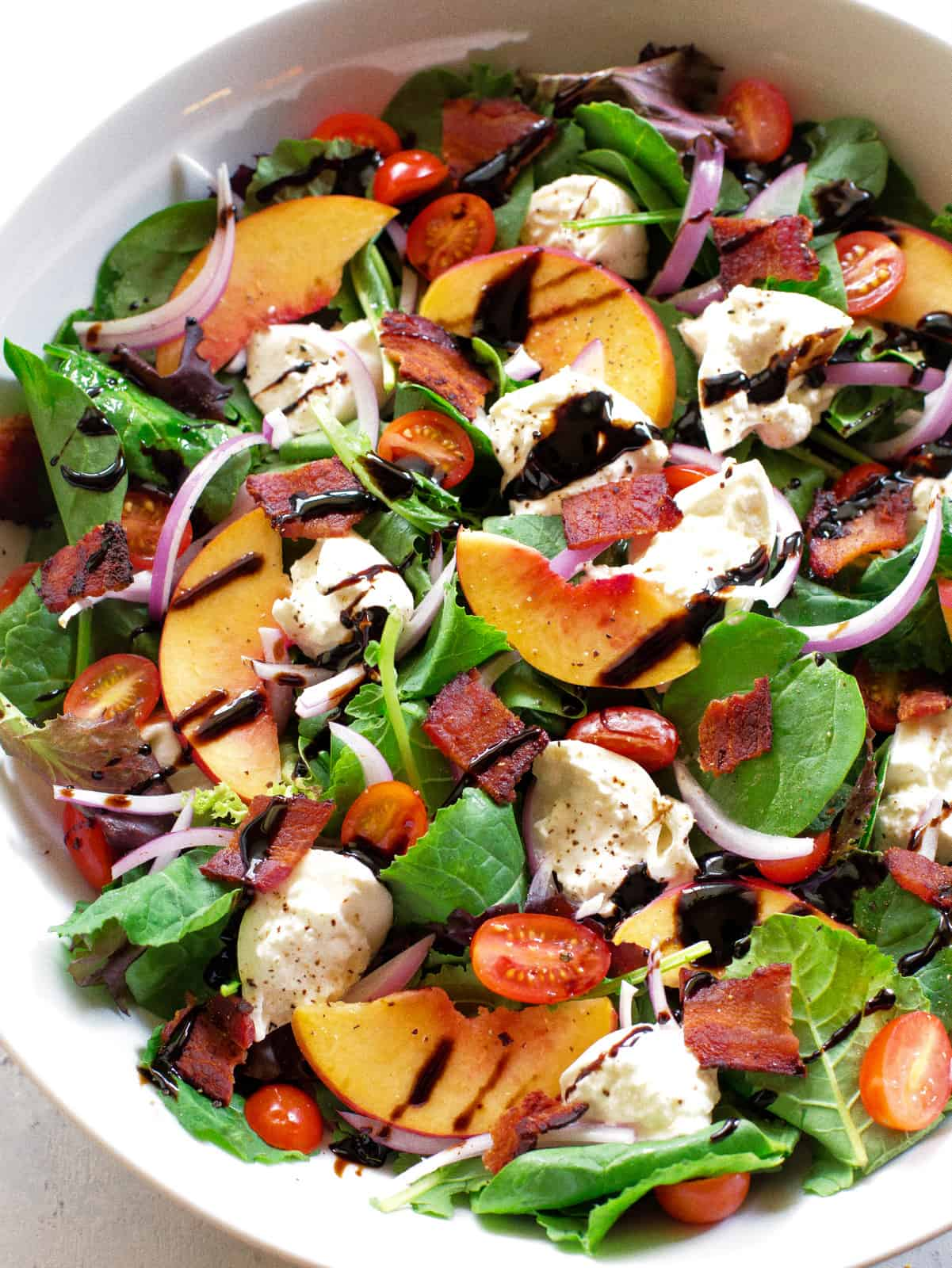 Peach Burrata Salad The Girl Who Ate Everything