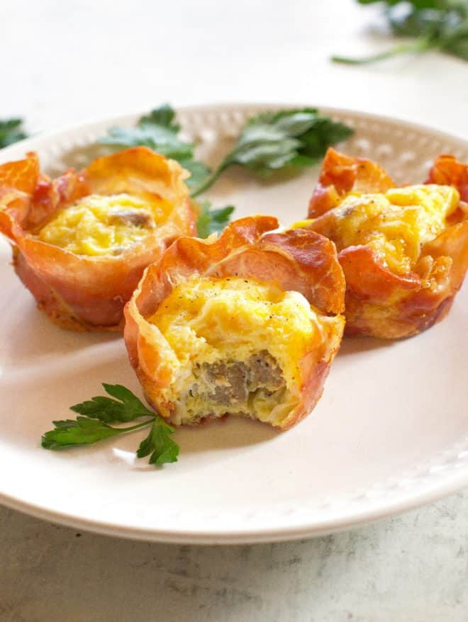 Prosciutto Sausage and Egg Cups