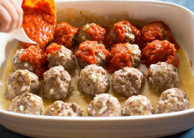 meatballs with marinara