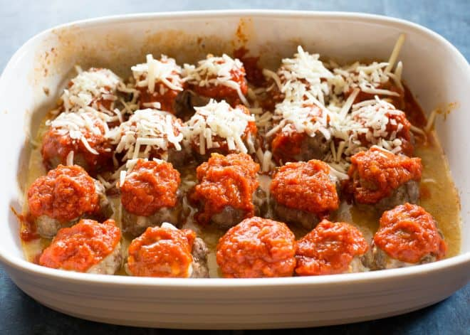 meatballs with marinara and cheese