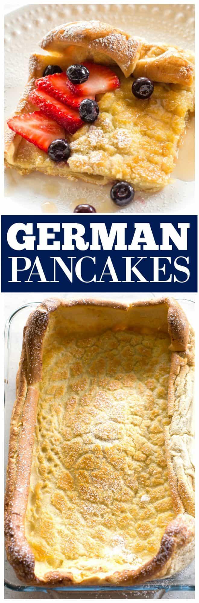 German Pancakes with fruit